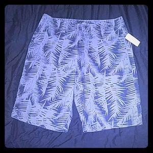 Black and Greay pattern Mens Shorts